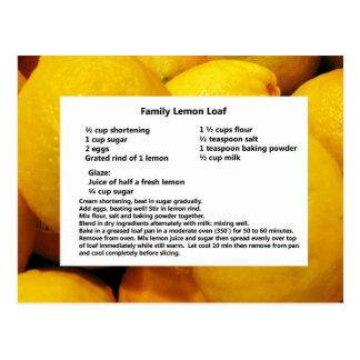 Cartão do naco do limão da família