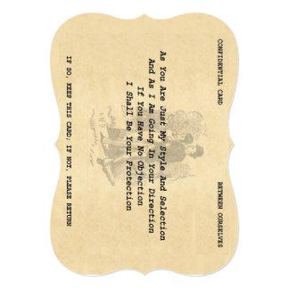 """Cartão do namorico do cavalheiro (suporte 5"""" x 7"""") convite 12.7 x 17.78cm"""