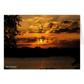 Cartão do nascer do sol