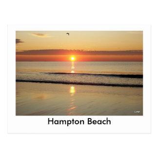 Cartão do nascer do sol da praia de Hampton