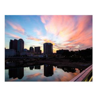 Cartão do nascer do sol de Columbo