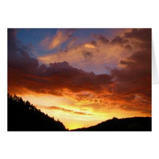Cartão do nascer do sol de Custer último