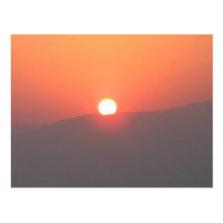 Cartão do nascer do sol de Israel Masada -