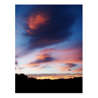 Cartão do nascer do sol de Reno