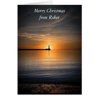 Cartão do nascer do sol de Roker