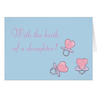 Cartão do nascimento