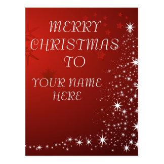 Cartão do Natal com nome feito sob encomenda -