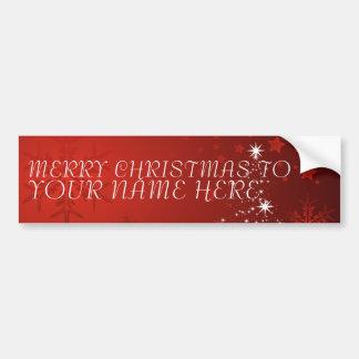 Cartão do Natal com nome feito sob encomenda - Adesivo Para Carro