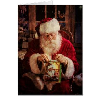 Cartão do Natal com papai noel