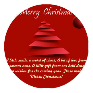 Cartão do Natal Convite Quadrado 13.35 X 13.35cm