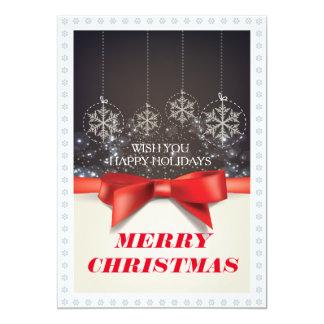 Cartão do Natal Convite 12.7 X 17.78cm