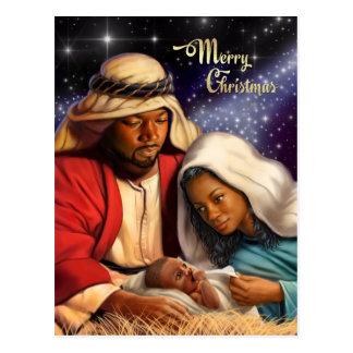Cartão do Natal da arte da natividade do