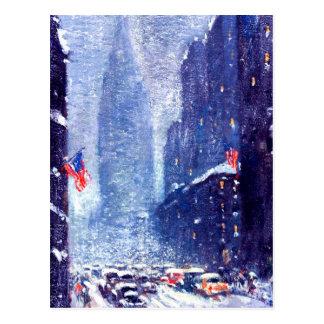 Cartão do Natal da arte do inverno Scene.Fine de