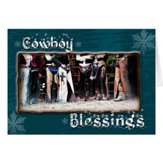 Cartão do Natal da bênção do vaqueiro