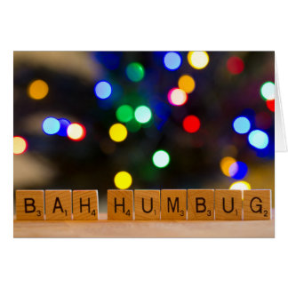 Cartão do Natal da farsa de Bah