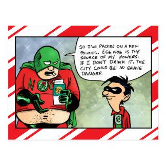 Cartão do Natal da gemada do bebendo do Nog-Man