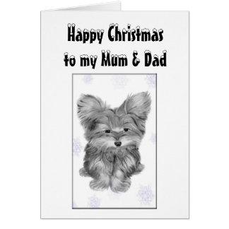 Cartão do Natal da mãe e do pai