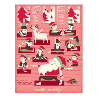 Cartão do Natal da oficina da ioga do papai noel