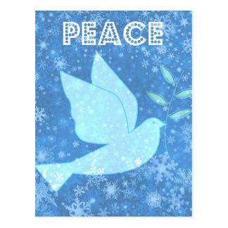 Cartão do Natal da pomba da paz
