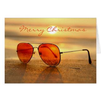 Cartão do Natal da praia do verão