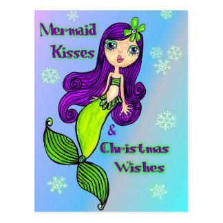 Cartão do Natal da sereia