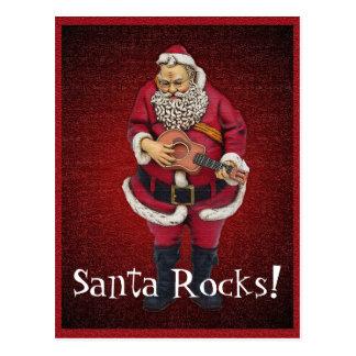 Cartão do Natal das rochas do papai noel