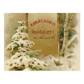 Cartão do Natal de Hungria 1901