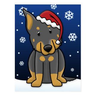 Cartão do Natal de Kawaii Beauceron
