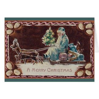 Cartão do Natal de Papai Noel do Victorian