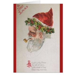 Cartão do Natal de Papai Noel do vintage