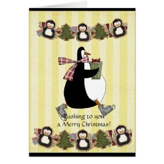 Cartão do Natal de Penquin