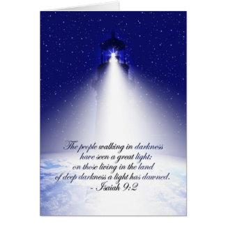Cartão do Natal do 9:2 de Isaiah