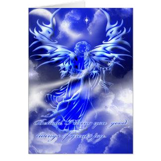 Cartão do Natal do anjo