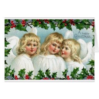 Cartão do Natal do anjo do Victorian