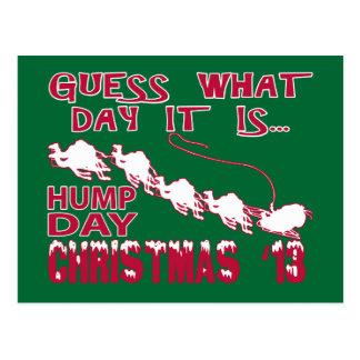 Cartão do Natal do camelo do dia de corcunda