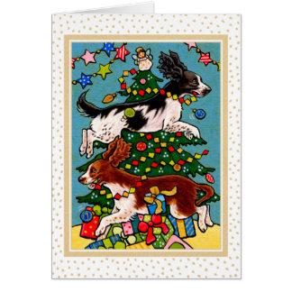 Cartão do Natal do cão do Spaniel de Springer