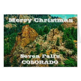 Cartão do Natal do Colorado de sete quedas