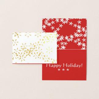 Cartão do Natal do floco de neve do inverno da