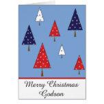 Cartão do Natal do Godson