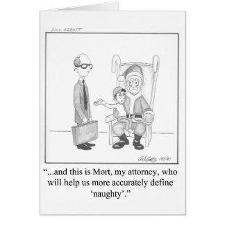 Cartão do Natal do humor do advogado
