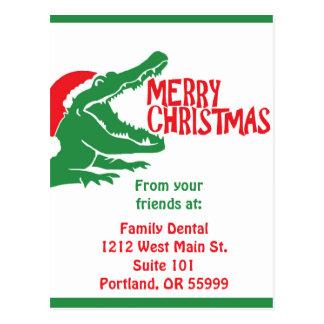 Cartão do Natal do jacaré