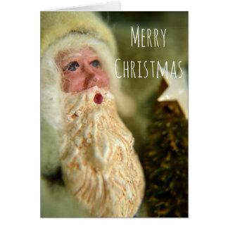 Cartão do Natal do papai noel do estilo do vintage