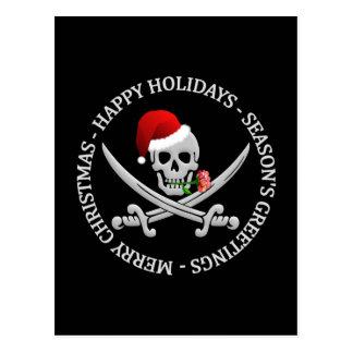 Cartão do Natal do pirata - personalize
