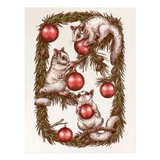 Cartão do Natal do planador do açúcar