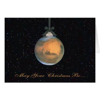 Cartão do Natal do planeta de Marte