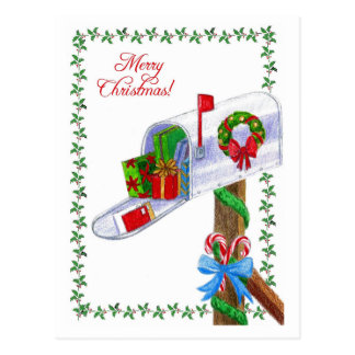 Cartão do Natal do portador de correio