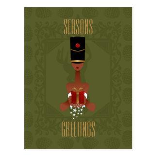 Cartão do Natal do presente de época natalícia do