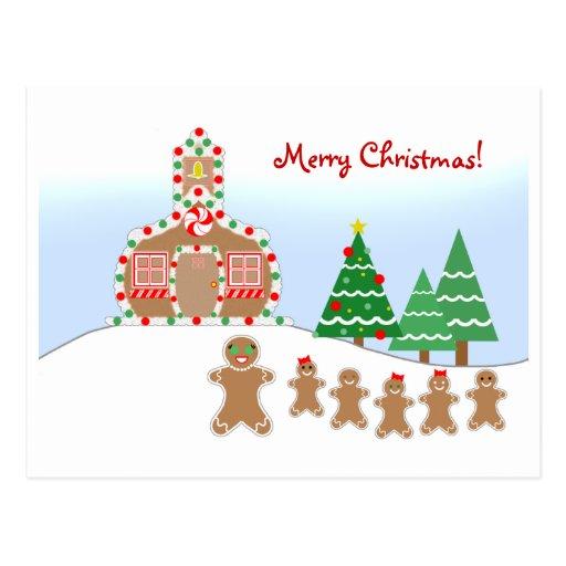 Cartão do Natal do professor - cena do pão-de-espé Cartão Postal