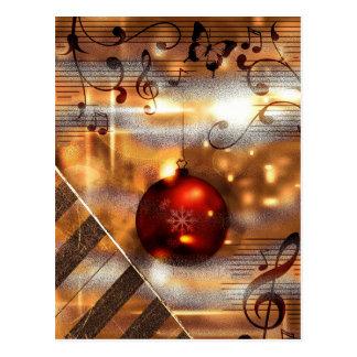cartão do Natal do professor de piano Cartão Postal