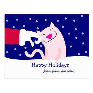 Cartão do Natal do profissional dos cuidados dos